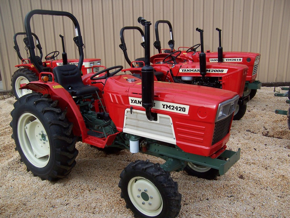 Yanmar YM 2420D 29 hp, 3 cylinder diesel, 4wd, powershift transmission with ROPS (roll over protective structure). Built in 1982 and 1983. $7,599 $6,699 2WD