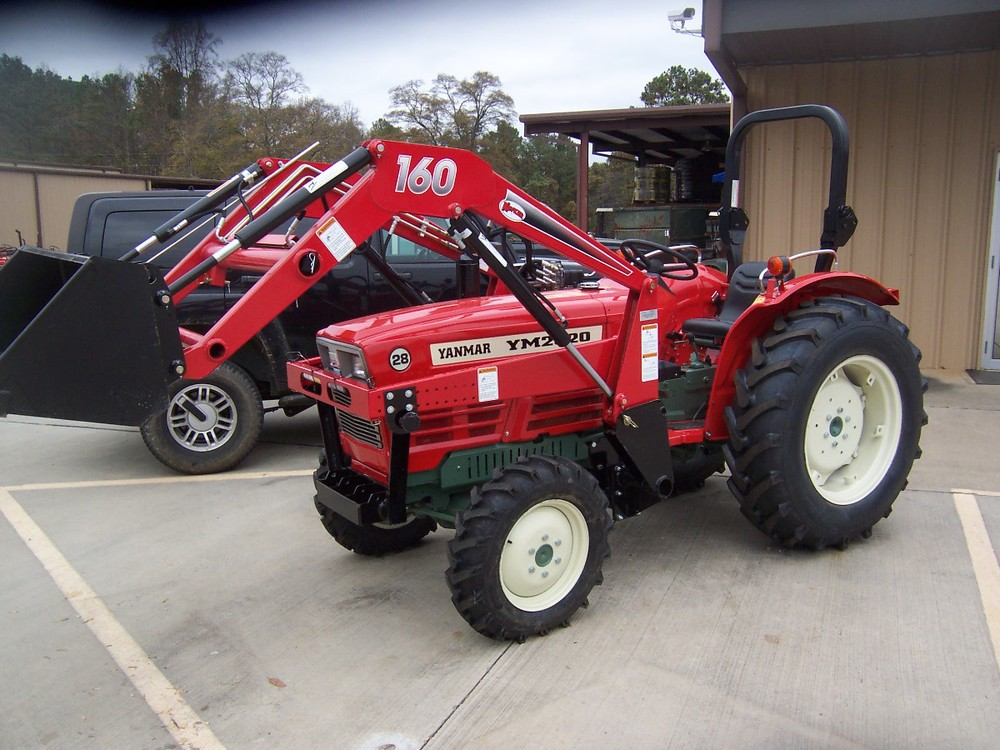 Yanmar YM 2820D 34 hp, 3 cylinder diesel, 4wd, power steering, powershift transmission, with roll over protective structure. Built in 1982 and 1983.  Shown with new Koyker 160 loader. Price does not include loader. $9,299 $7,999 2WD