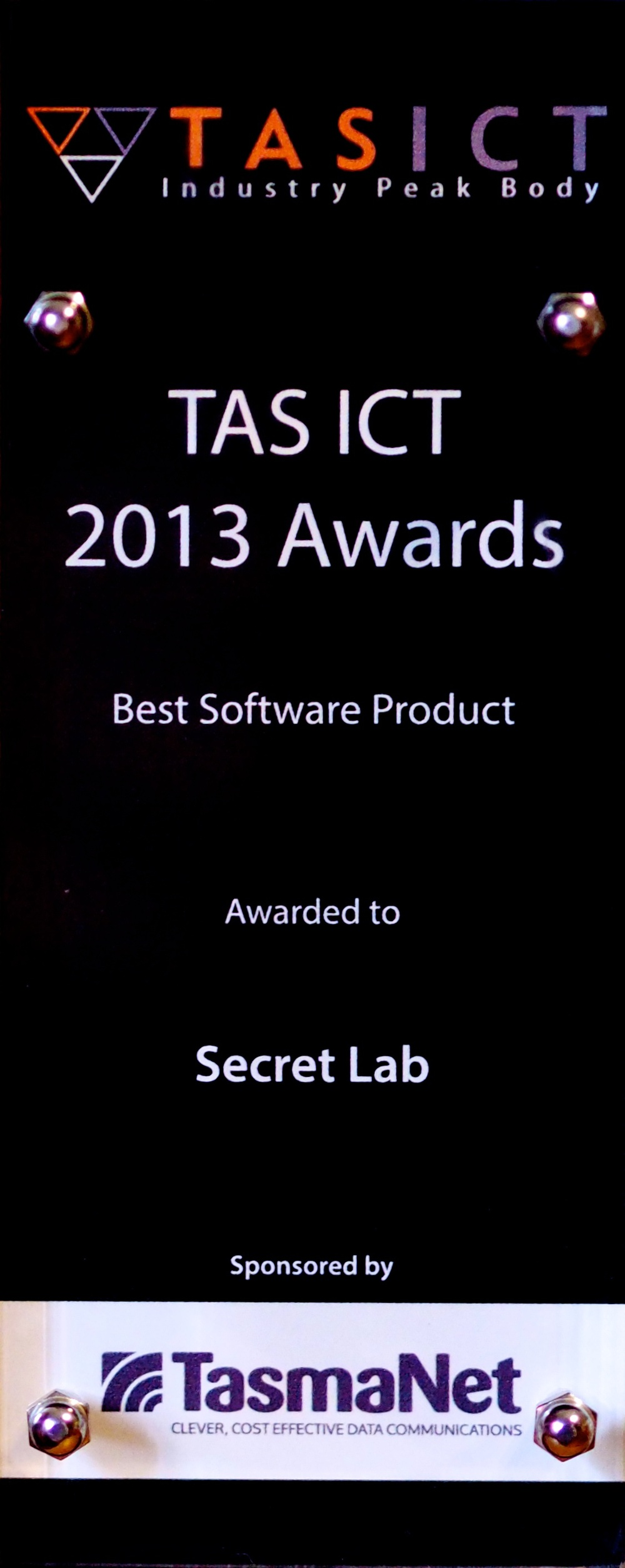 Secret Lab's 2013 TASICT Award