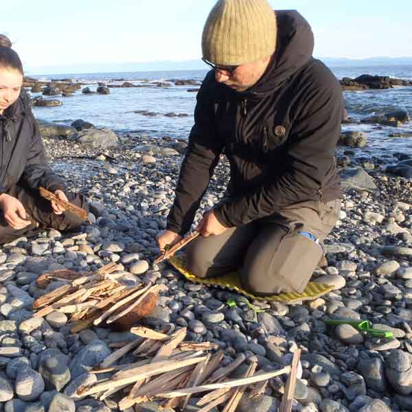 Teaching students on the Juan de Fuca Trail