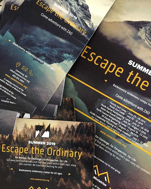 We just got a big order of promo material!🌄 • Still thinking about signing up for an adventure with Zao this summer? Now is the time! ⛰ • #ZaoOutdoors