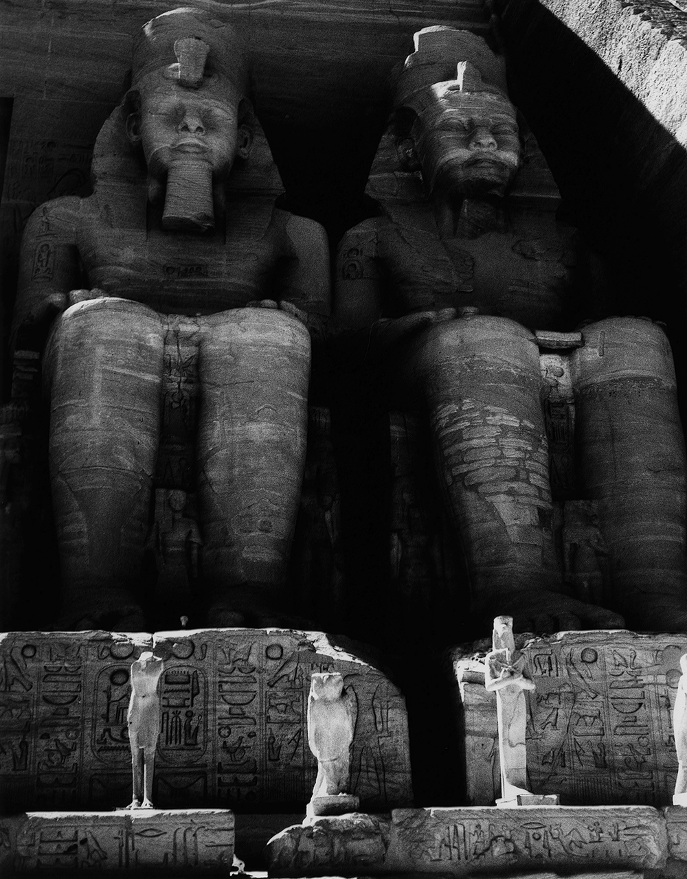 Two of four statues of Ramses II, Abu Simbel