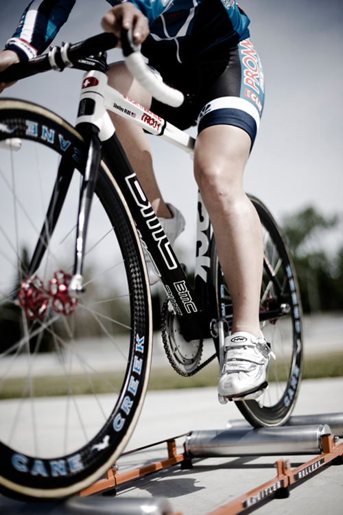 Professional cyclist using Kreitler Roller