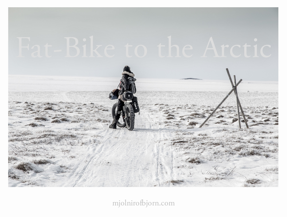 Crossing the Arctic Circle by bicycle.