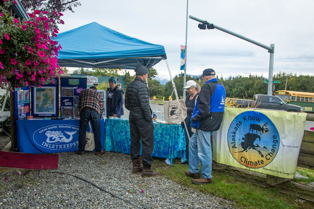 Alaskans Know Climate Change tabling - Homer.