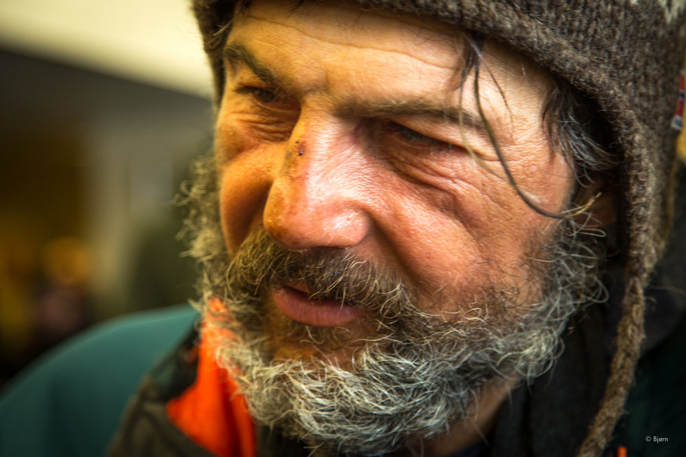 We saw Jan Kriska, the first walker into Nome at the airport. He'd walked 48 hours straight from White Mountain and looked entirely destroyed. He'd had to abandon his journey last year due to frostbite and this year was beset with intensely deep snow.