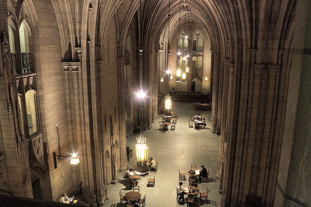Cathedral of Learning, Commons Room, University of Pittsburg. Photo by  Brian Donovan . ( CC BY-SA 2.0 )