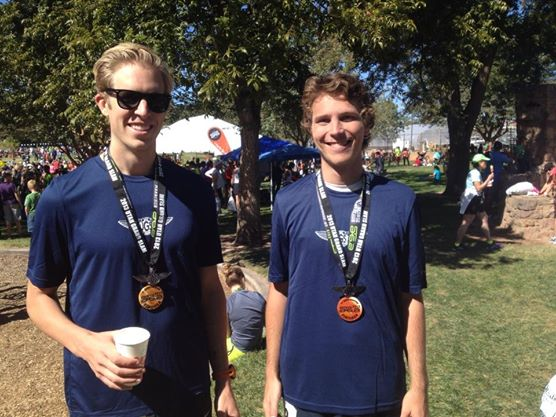 Me and Connor Child following the completion of the St. George Marathon – and the Utah Grand Slam – in 2013.