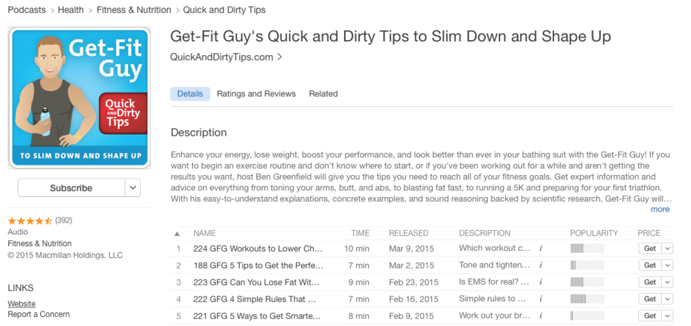 The Get-Fit Guy Podcast is available on iTunes and other participating networks.