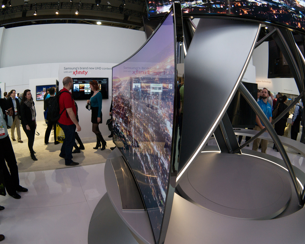 Samsung Curved LED TV. Photo by Nan Palmero.