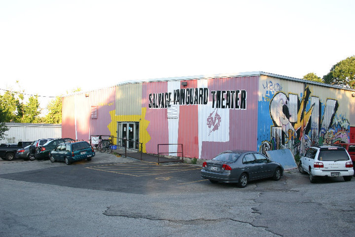 Salvage Vanguard Theater, 2015. The East Austin building was a 10,000-sq-foot warehouse with one main theater, one studio theater, offices and a scene shop.