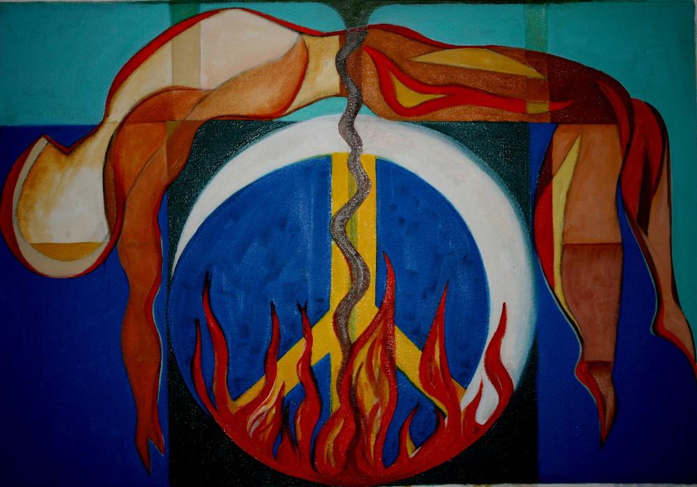 Peace on fire, 2008, acrylic on canvas