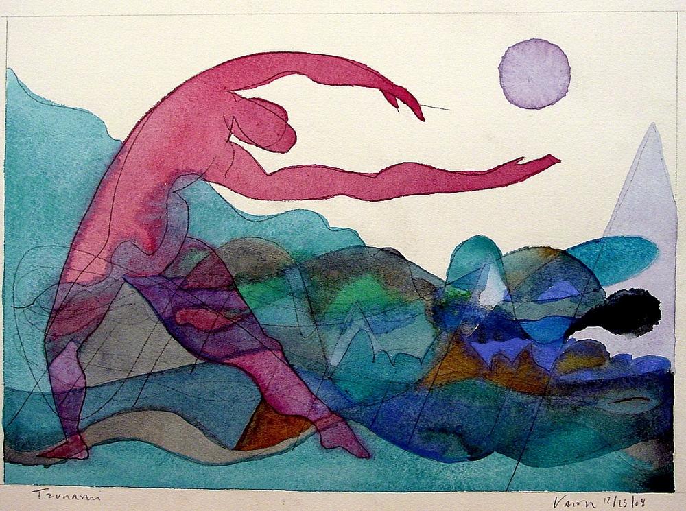 Hope & Despair , watercolor, 2004