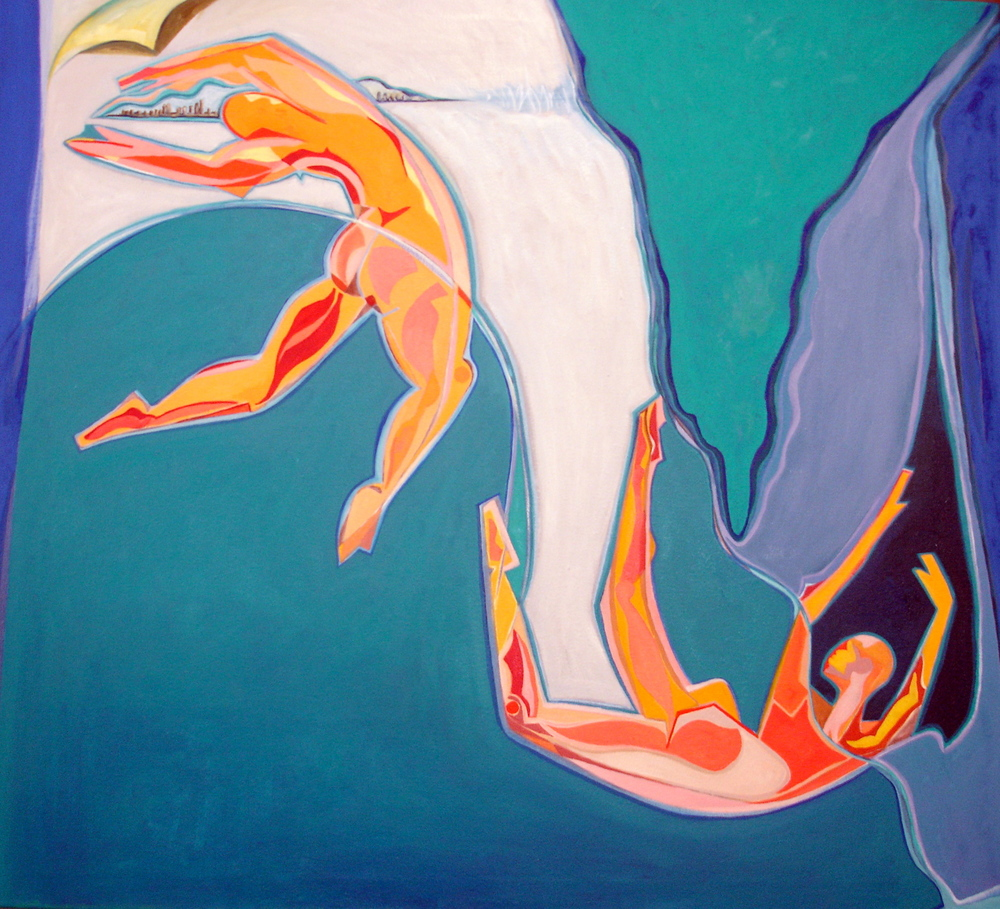 "Hope & Despair 2, 2006, 42""x40"", oil on canvas"