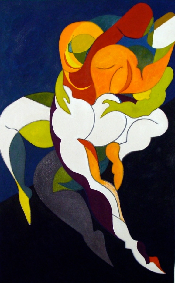 Synergy IV. 20x31 oil on canvas,private collection of Daniel Varon