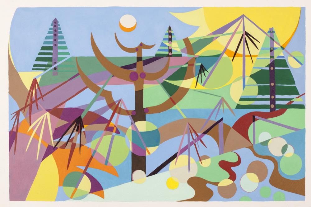 Merging of Seasons, 2014, watercolor