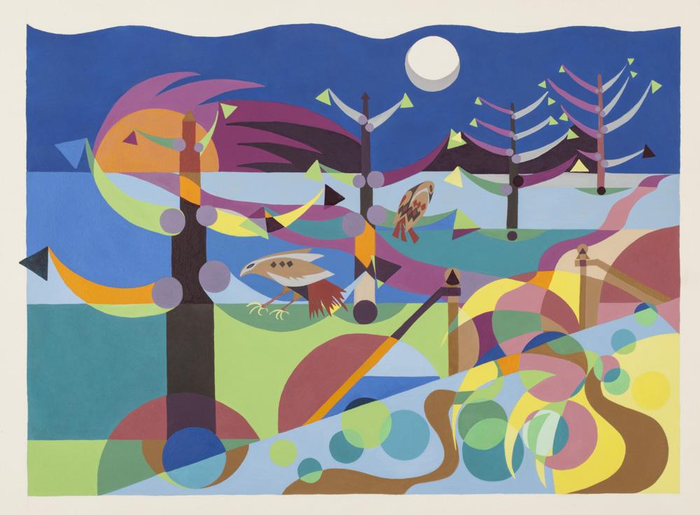 night hawks  - 2012 - watercolor