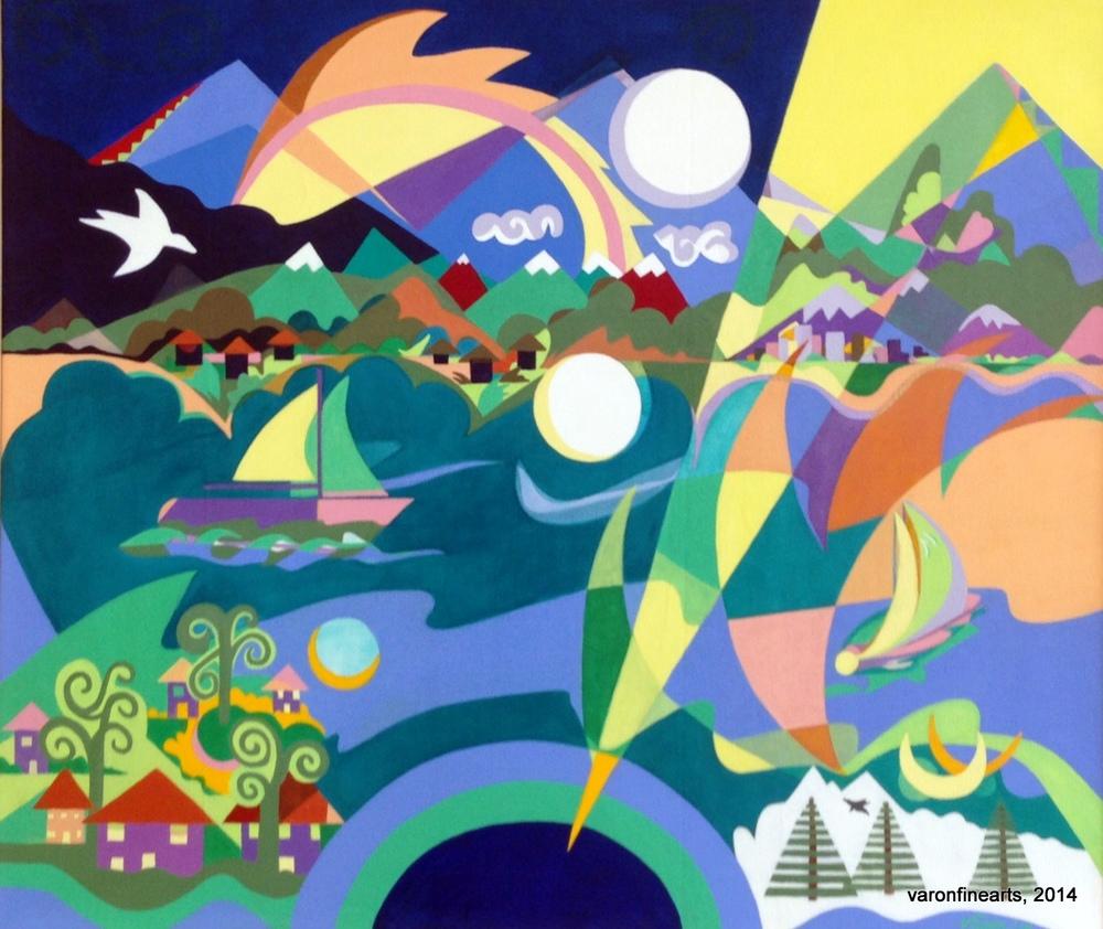 Vistas - 2010 - acrylic on canvas