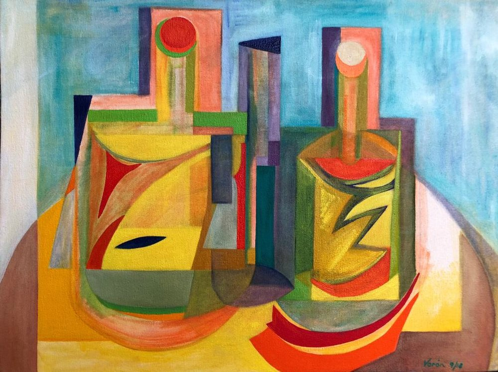 Botellas - Oil on Canvas