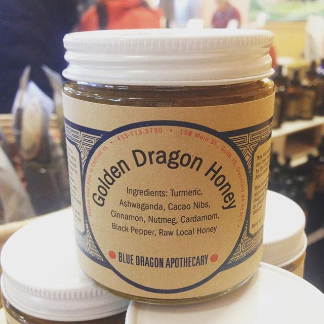 We are at the Northampton Winter Farmer's Market. 67 Conz St, Senior Center. Until 2pm. Take in a nourishing Golden Dragon Honey to the New Year! #herbalmedicine #northamptonwintermarket #bluedragonapothecary #goldenmilk