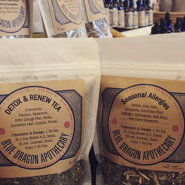 We are at the Northampton Winter Market till 2pm. It's the season of a physiological change and beginnings of growth outward. Soften the blow with some liver and digestive support. Gently assist the process of spring cleaning with Detox and Renew or get a head start on immune boosting herbs with our delicious Seasonal Allergies tea. #herbalmedicine #northamptonwintermarket #bluedragonapothecary #herbalhealing #springcleanse #springcleaning #detox #liverdetox