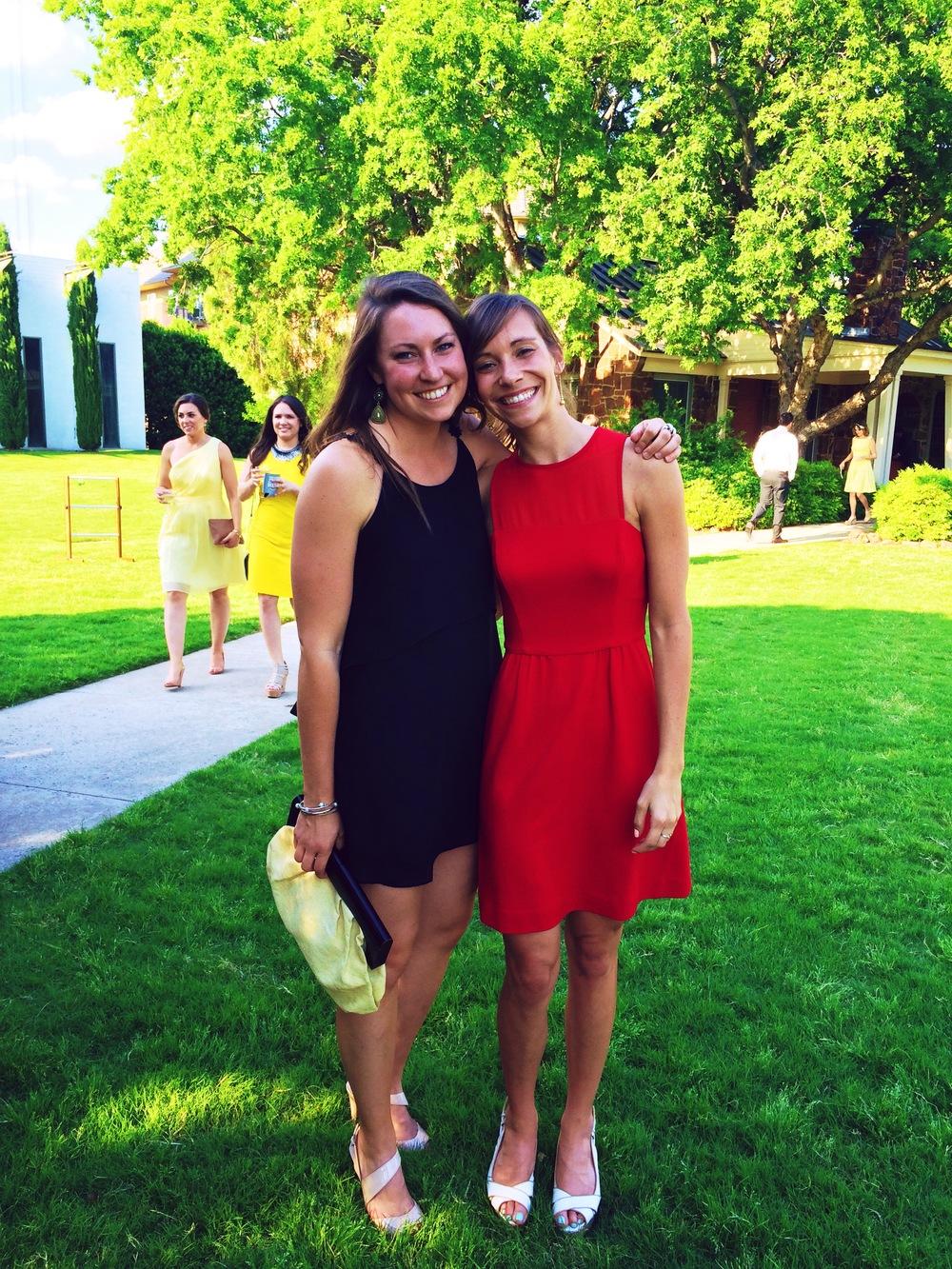 Lauren at I at K+B's Wedding!