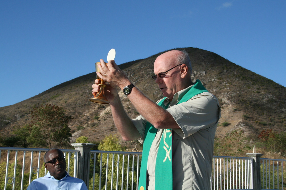 Fr. Leon Hutton and Fr. Gerard Dormevil in Bassen