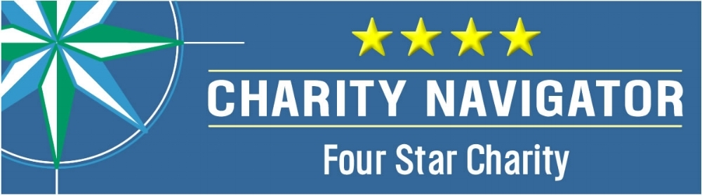We are rated a 4-star charity by Charity Navigator, click here for details.