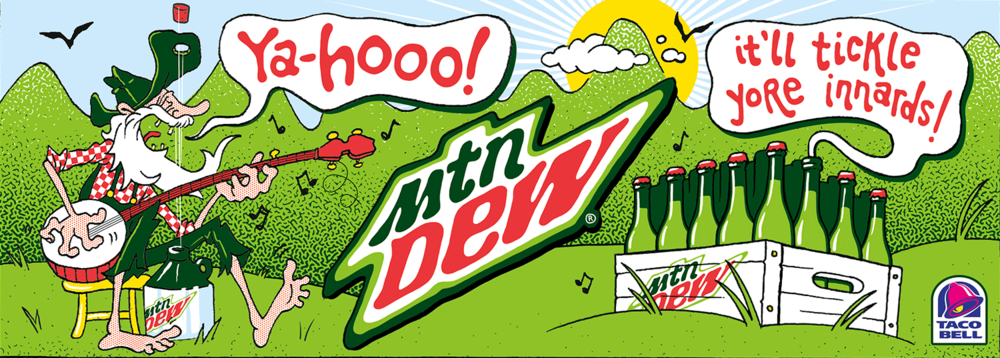 Fountain Cup illustration for Mtn Dew Origins