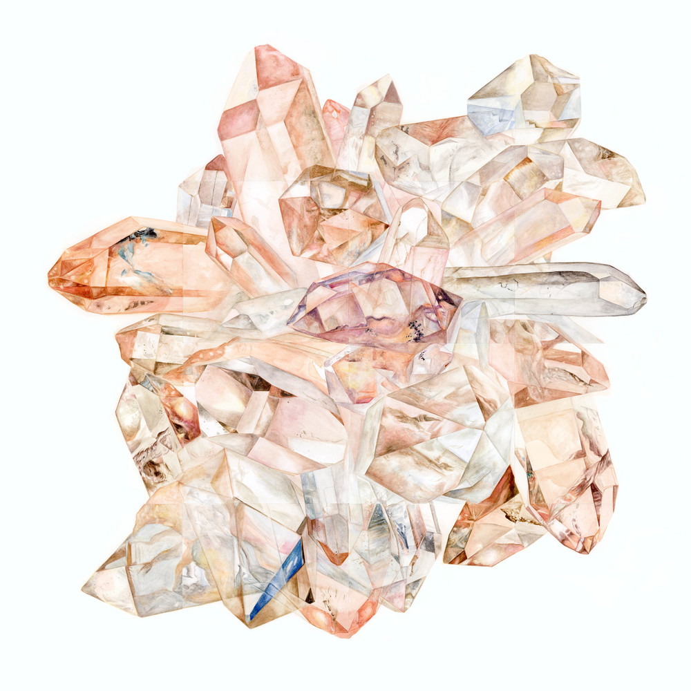 Lara Meyerratken Peach Orb Cluster Rose Quartz
