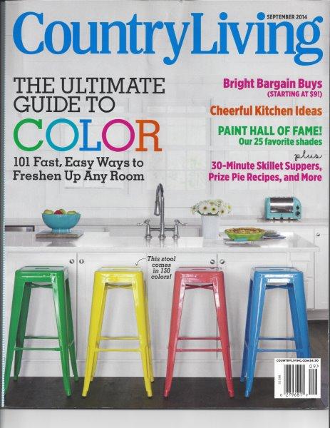 Country Living Magazine cover September 2014