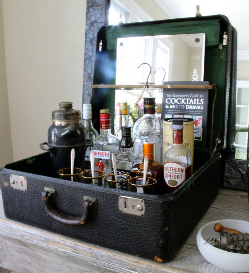 Vintage Suitcase Bar, As Seen On Eclectically Vintage
