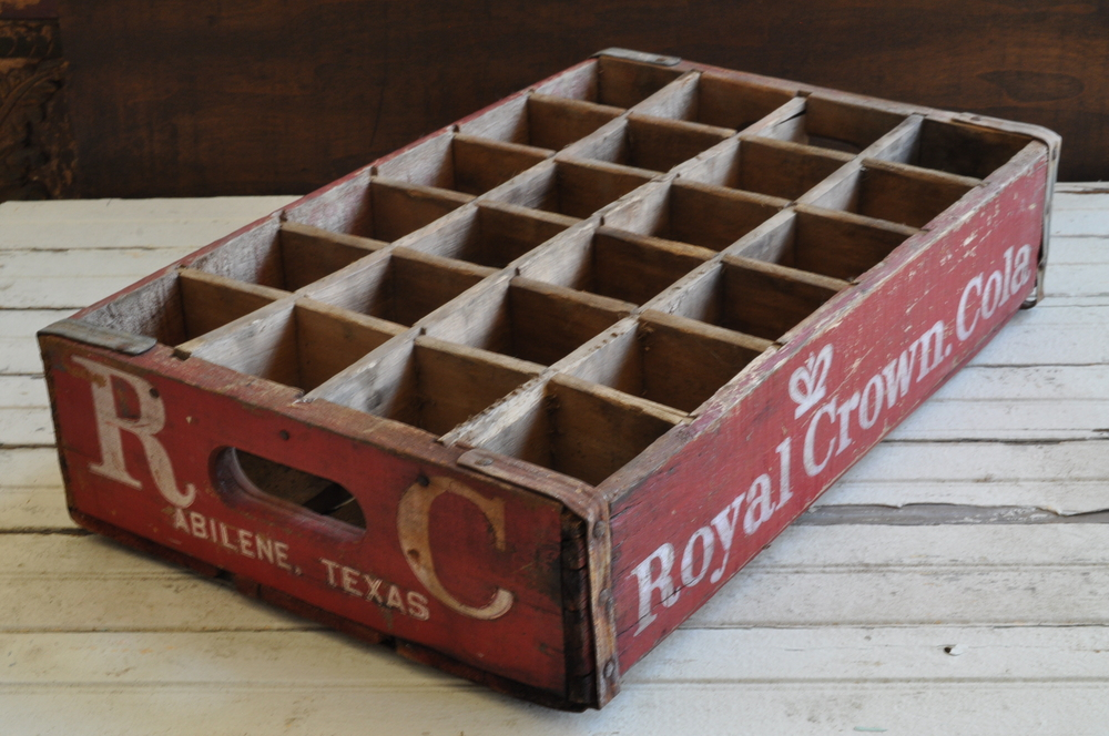 Vintage RC Cola Crate - The Vintage Round Top Shop