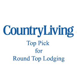 Country Living Top Pick for Round Top Lodging