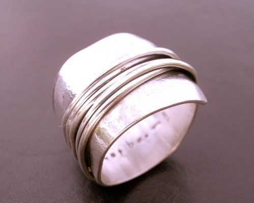 Destiny Wrapped Wide Band in Sterling Silver from      Delias Thompson