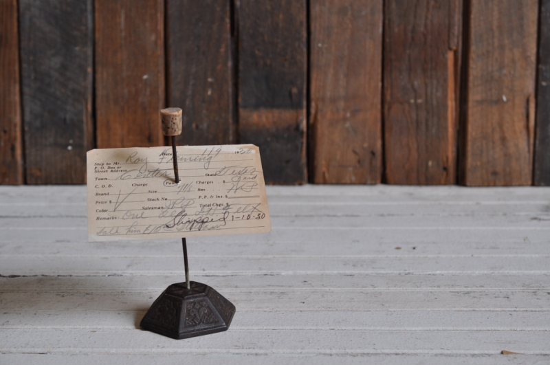 Vintage Receipt Spindle - The Vintage Round Top
