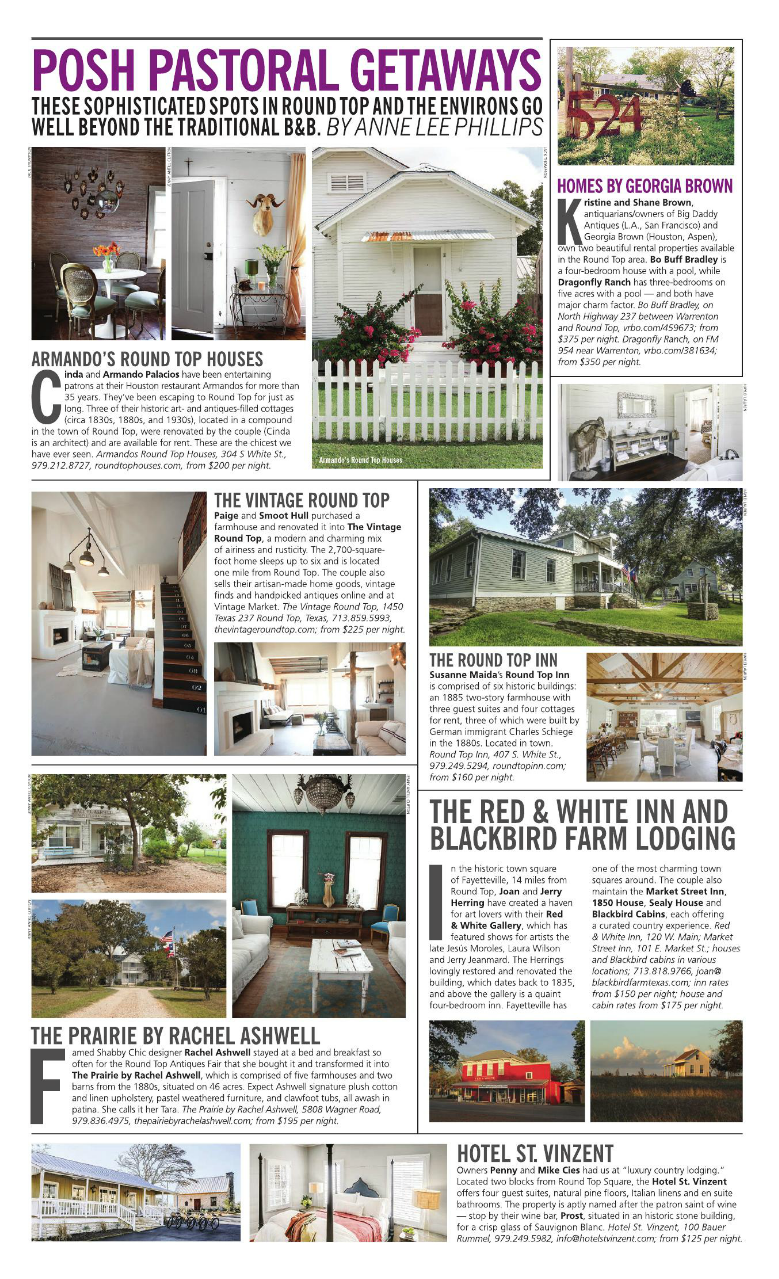 THE VINTAGE ROUND TOP IN PAPERCITY MAGAZINE, SEPTEMBER 2015