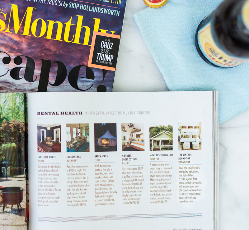 Photos of Texas Monthly and Shiner by Natalie Lacy Lange