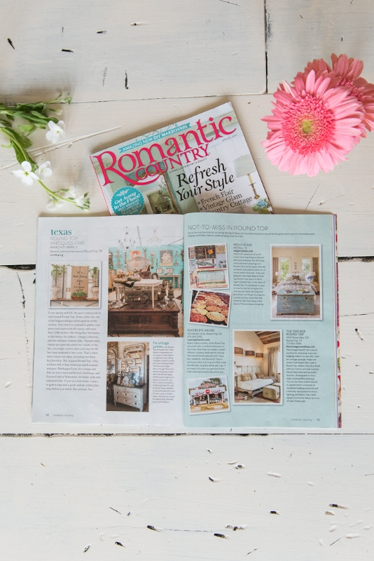 RVT ROMANTIC COUNTRY FEATURE, THE VINTAGE ROUND TOP