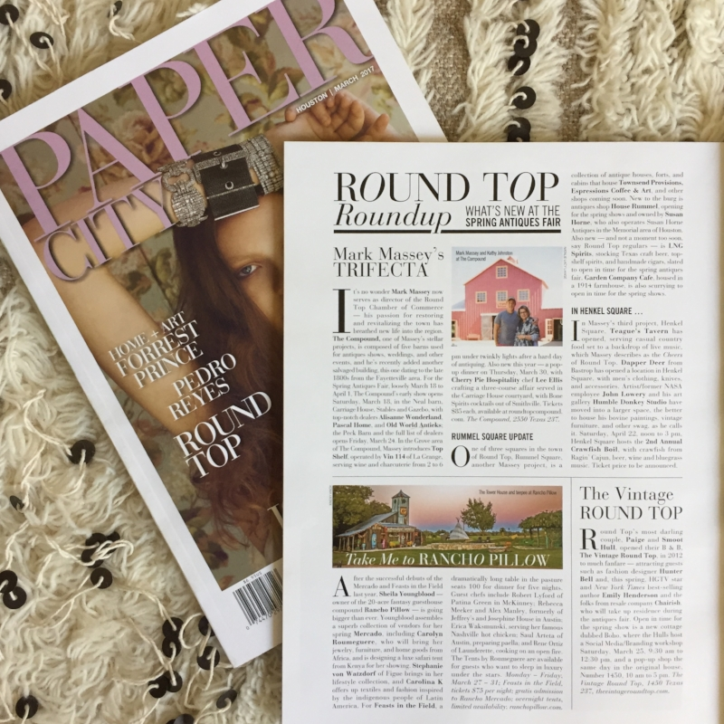 MARCH 2017 PAPERCITY FEATURE, THE VINTAGE ROUND TOP