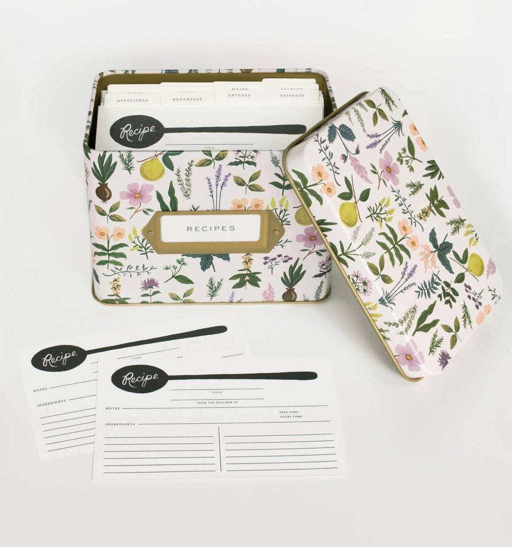 RIFLE PAPER CO. RECIPE BOX, THE VINTAGE ROUND TOP
