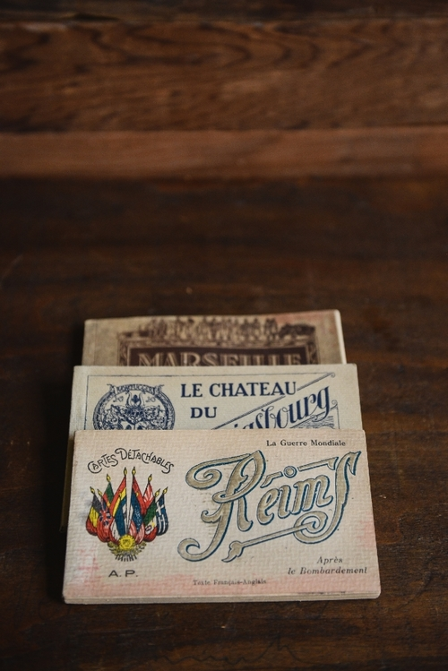 FRENCH POST CARD BOOKS, THE VINTAGE ROUND TOP