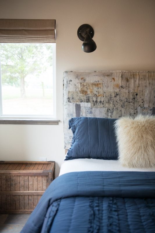 Cara Marie Piazza - Cara's naturally hand-dyed fabrics make for beautiful and original pieces. We partnered with Cara to make the fabric for the headboards in the Boho cottage's Guest Bedroom. See more of Cara's work here.