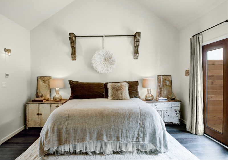 Carol Hicks Bolton Antiquities - We collaborated with Carol Hicks Bolton Antiquities for the custom bedding and textiles made from vintage and found fabrics.