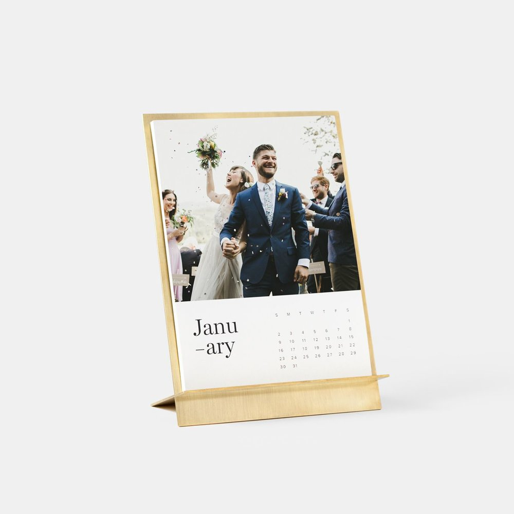 for the newlyweds - Artifact Uprising / Brass Easel & Calendar          $55