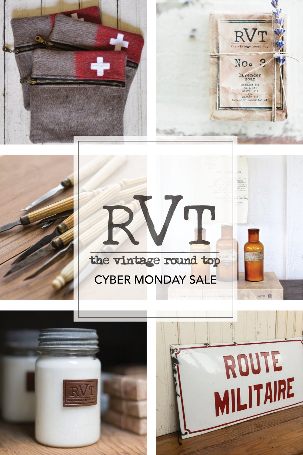 The Vintage Round Top Shop Small & Cyber Monday Sale. Shop Vintage Goods and Handmade Items!