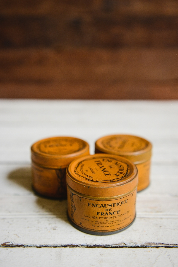 French Vintage Wax Canisters - Was $24 / Now $19