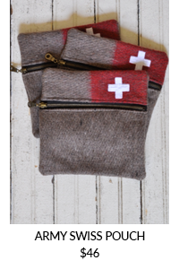 Front-Zip Army Swiss Pouch