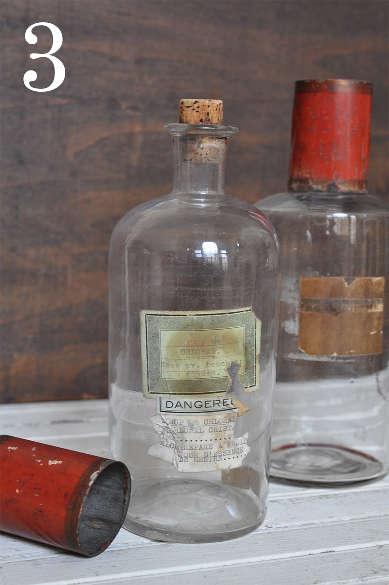 French Vintage Apothecary Bottle