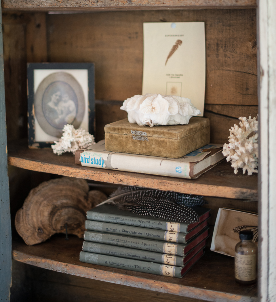 Becki Griffin - Our sweet friend Becki Griffin of Curious Details is a mastermind at the finishing touches. She helped me add in the details that make a difference, like in our great room hutch that is filled with unique finds!